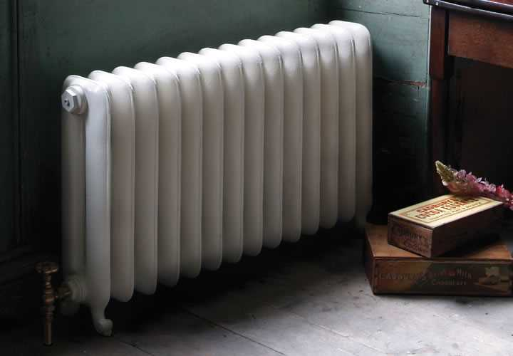 Duchess 2 column cast iron radiator in parchment white