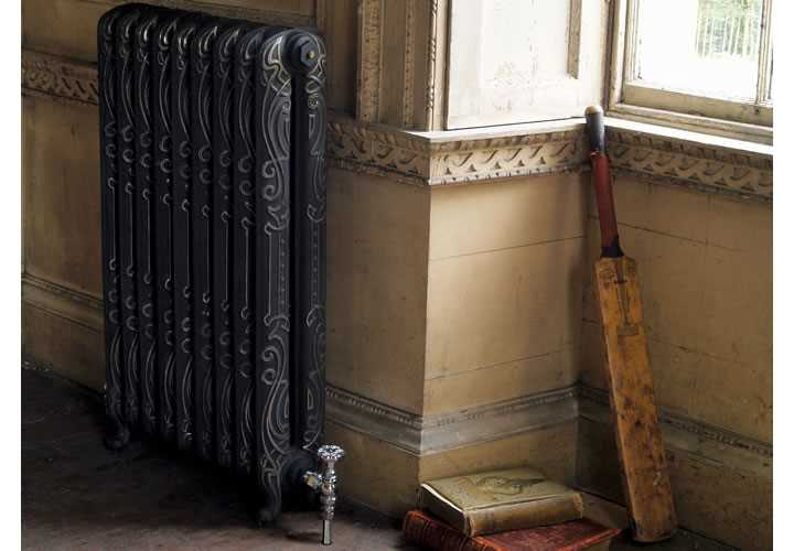 Orleans cast iron radiator in highlight polish