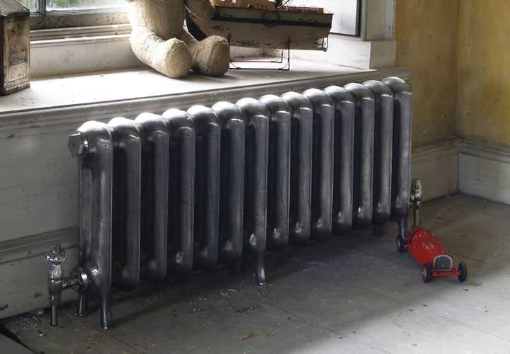 Princess hand burnished 2 column cast iron radiator