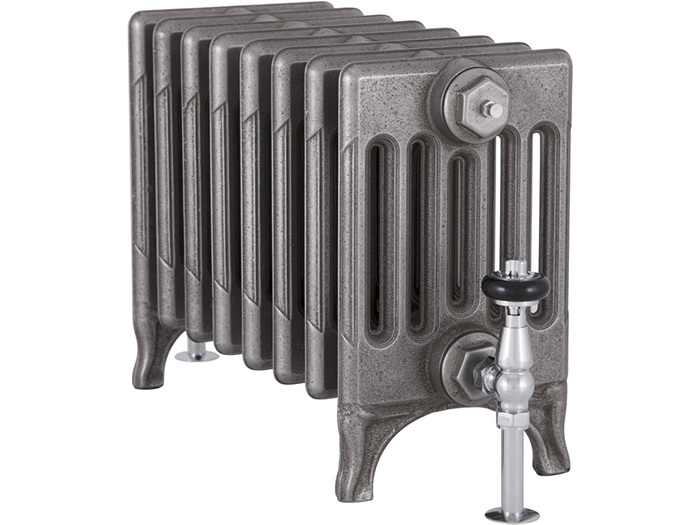 Victorian 6 column cast iron radiator in satin polished finish