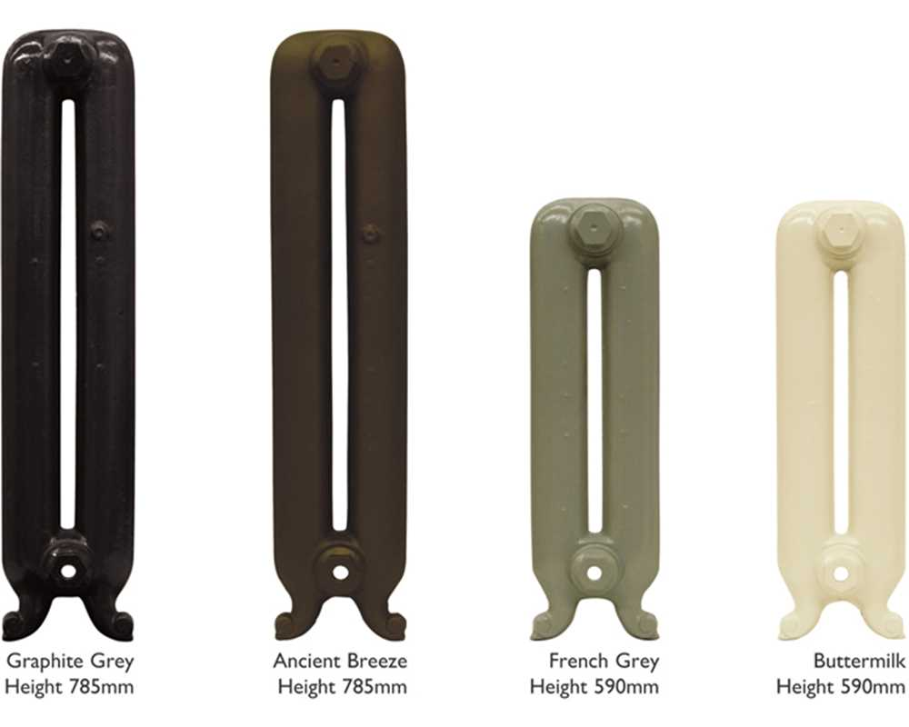 Duchess 2 column cast iron radiator sections in various heights
