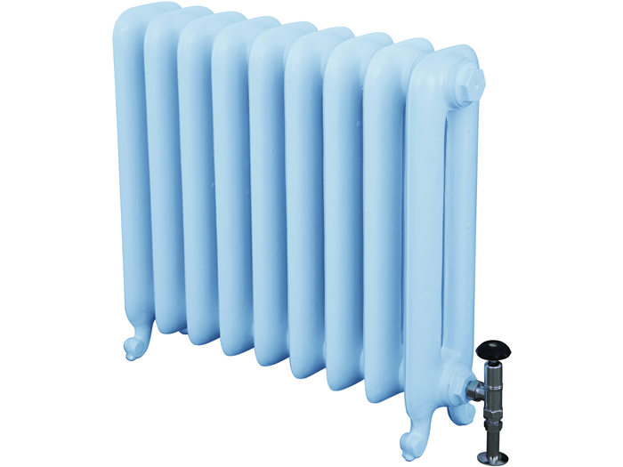 Duchess 2 column cast iron radiator with radiator with radiator valve