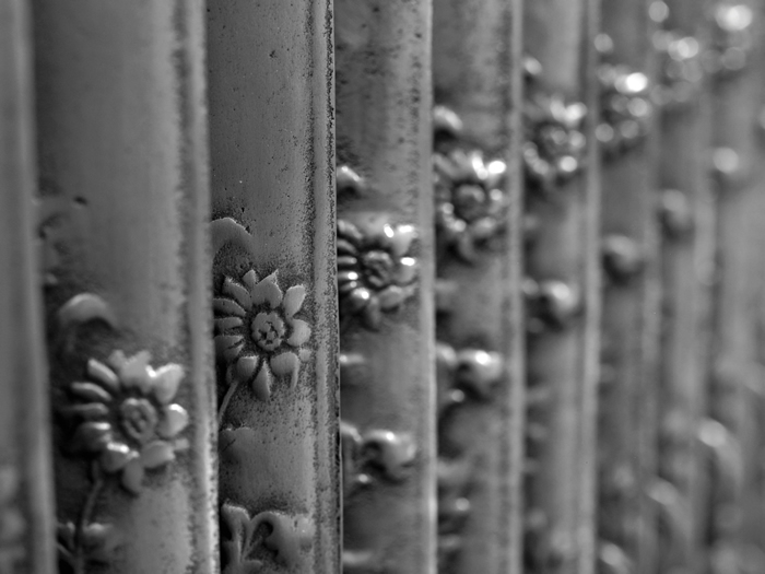 Daisy hand burnished radiator detail
