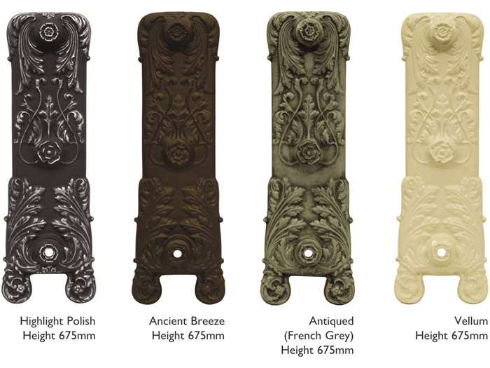 Chelsea cast iron radiator sections in highlight polish and painted finishes
