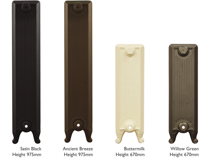Churchill cast iron radiator sections in various heights