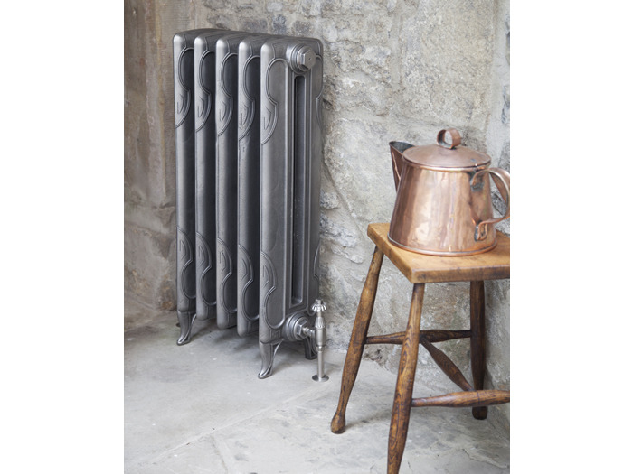 Liberty 2 column cast iron radiator in  hand burnished finish
