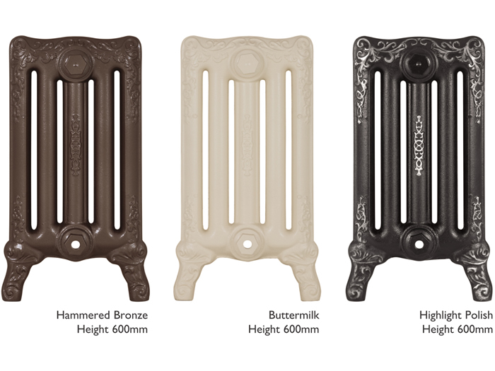 Turin painted cast iron radiator sections