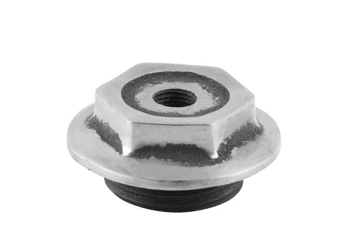 End Cap 1 Inch Bleed Inlet Right Hand Thread Full Polish