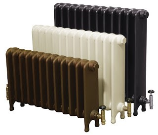 Eton cast iron radiators in various heights and colours