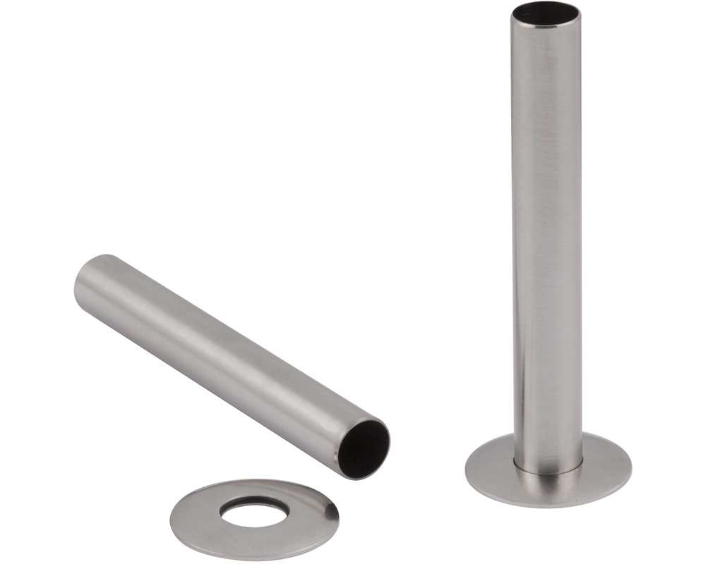 satin nickel radiator pipe shroud