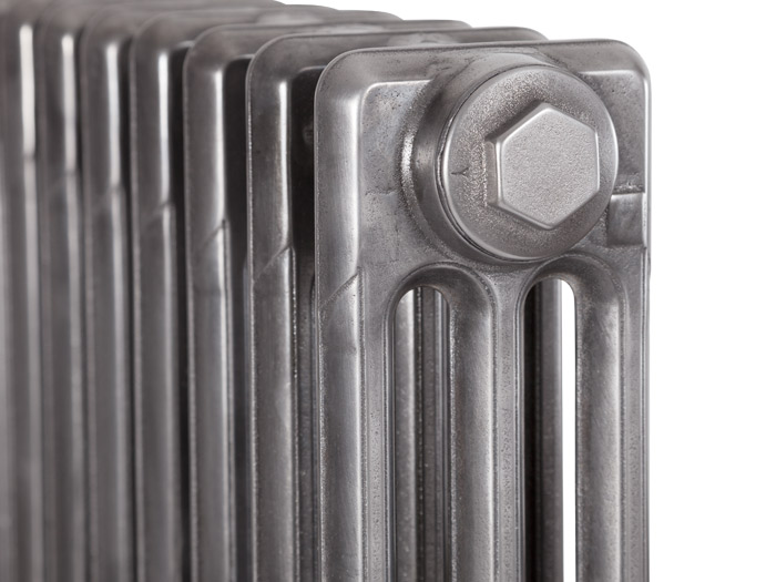Victorian 3 Column Cast Iron Radiators Hand Burnished Top Detail