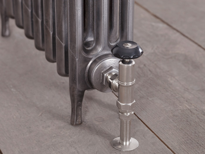 Victorian 3 Column Cast Iron Radiators Hand Burnished Detail