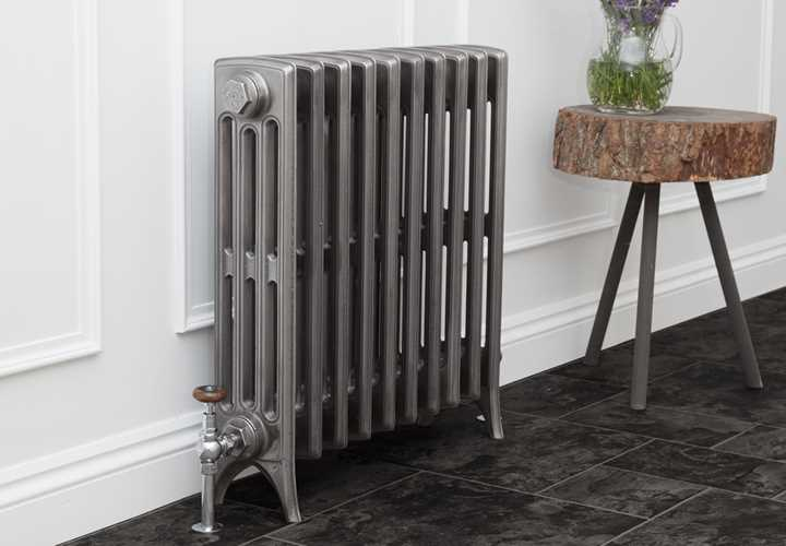 Rathmell 4 column hand burnished cast iron radiator