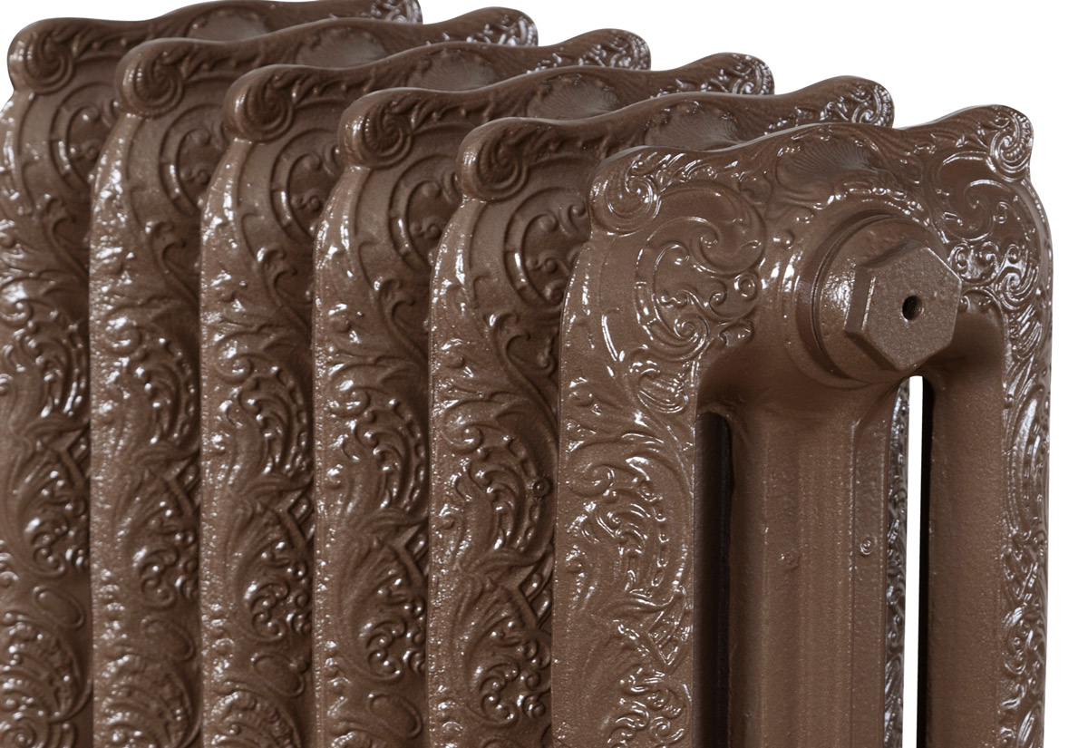 Rococo 3 Column Hammered Bronze 6 Section 810Mm Detail