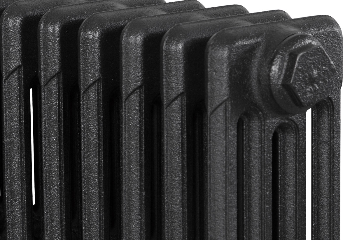 Victorian 4 Column Graphite Grey 20 Sections 325Mm Detail