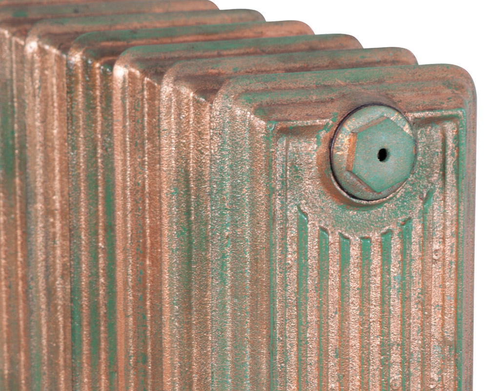 Churchill 1 Column Copper Leaf Verdigris 8 Section 670Mm Detail (1)