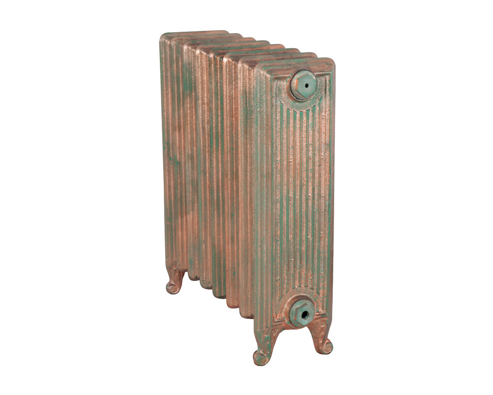 Churchill 1 Column Copper Leaf Verdigris 8 Section 670Mm (1)
