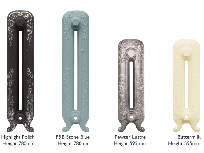 Daisy cast iron radiator sections in various heights